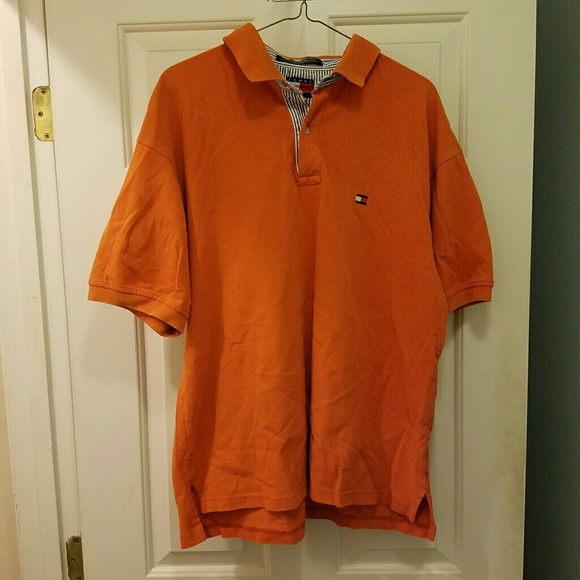09f346ed Tommy Hilfiger Shirts | Orange Short Sleeve Polo | Poshmark
